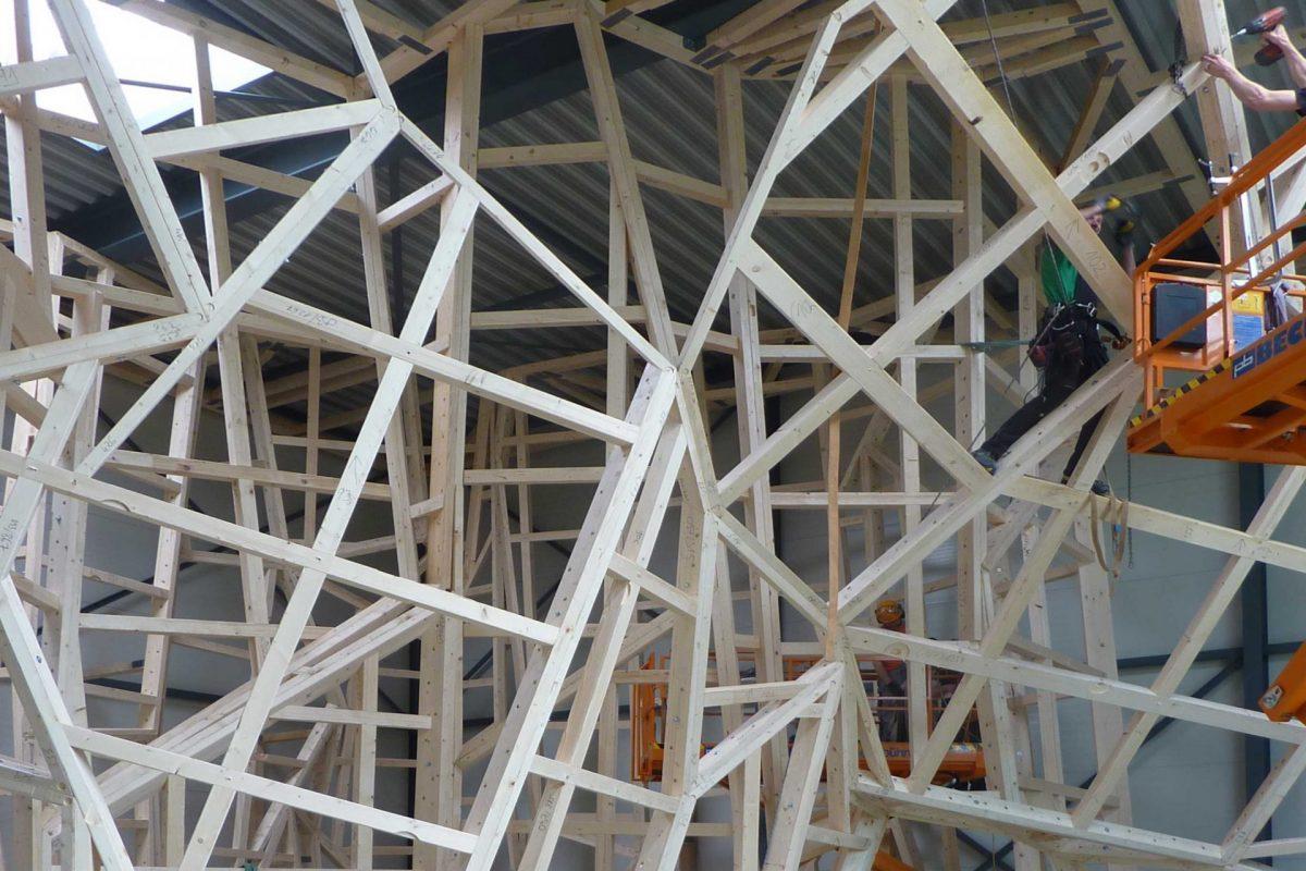 Kletterhalle Gerüst